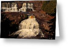 Evening Light Waterfalls Greeting Card