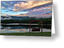 Evening Mist In August Over Lake Tamarack Greeting Card