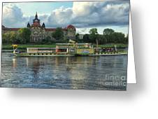 Evening Mood On The Elbe Greeting Card