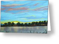 Evening On Ema River Greeting Card