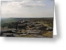 Evening On Stanage Edge Greeting Card