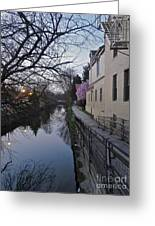 Evening On The Canal Path Greeting Card
