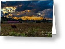 Evening On The Farm One Greeting Card