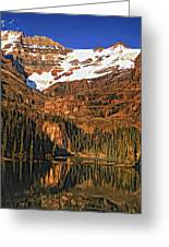 Evening On The Great Divide Painted Greeting Card