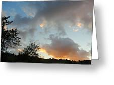 Evening On The Hill Greeting Card
