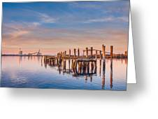 Evening On The Humboldt Bay Greeting Card
