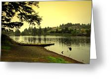 Evening On The Lake Greeting Card