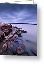 Evening On Tuttle Creek Lake In Kansas Greeting Card