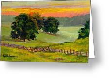 Evening Pastures Greeting Card
