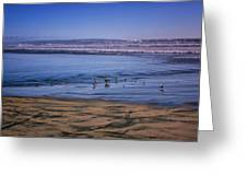 Evening Peace On Coronado Beach Greeting Card