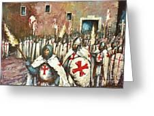 Templar Procession  Greeting Card