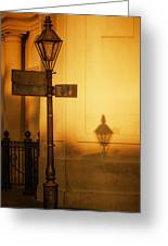 Evening Shadow In Jackson Square Greeting Card