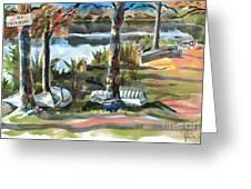Evening Shadows At Shepherd Mountain Lake  No W101 Greeting Card