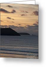 Evening Skies At Polzeath Greeting Card