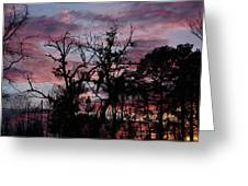 Evening Sky Color Greeting Card by Ella Char