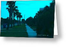 Evening Stroll At Isle Of Palms Greeting Card