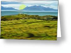 Evening Stroll By The Seashore Greeting Card