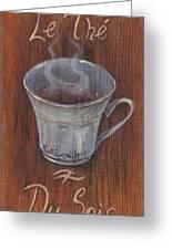 Evening Tea Greeting Card