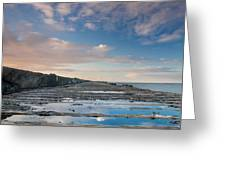 Evening View Down The South Jetty Greeting Card