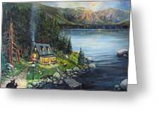 Evening Visitors Greeting Card