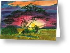 Evenings Bliss Greeting Card by Beverly Marshall
