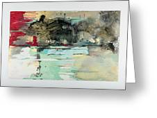 The Storm Behind The Calm Greeting Card by Marie Tosto