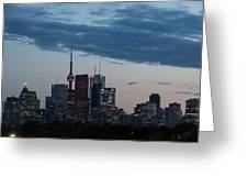 Eventide - Slow Dusk In Toronto Greeting Card