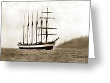 Everett G. Griggs Sailing Ship Washington State 1905 Greeting Card