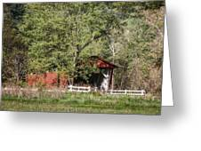 Everett Road Covered Bridge Greeting Card