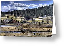 Evergreen Colorado Lakehouse Greeting Card