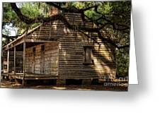 Evergreen Plantation Slave Quarters Greeting Card