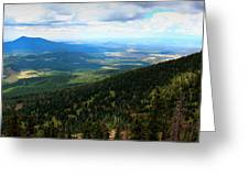 Evergreen Slopes Greeting Card