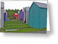 Every Garden Needs A Shed And Lawn Two In Les Jardins De Metis/reford Gardens Near Grand Metis-qc Greeting Card