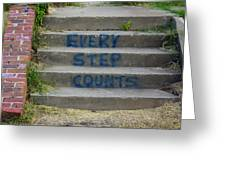 Every Step Counts Greeting Card