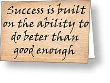 Every Success Greeting Card