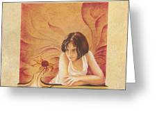 Everyday Angel With Flower Greeting Card