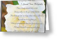 Everything About Life From Photogaphy Greeting Card