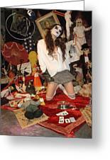 Evil Schoolgirl 207 Greeting Card