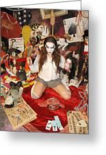 Evil Schoolgirl 38 Greeting Card