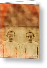Evil Twins Greeting Card