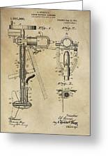 Evinrude Outboard Marine Engine Patent  1910 Greeting Card