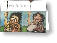 Evolution The Poster Greeting Card