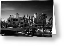 excalibur hotel and casino on the Las Vegas boulevard strip Nevada USA Greeting Card