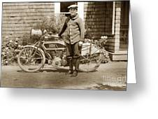 Excalibur Motorcycle California Circa 1915 Greeting Card