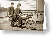 Excalibur Motorcycle Circa 1920 Greeting Card
