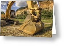 Excavator At Big Rock Quarry - Emerald Park - Arkansas Greeting Card