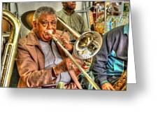 Excelsior Band Horn Player Greeting Card