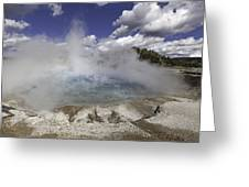 Excelsior Geyser Crater In Yellowstone National Park Greeting Card