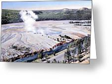 Excelsior Geyser, Yellowstone Np, 20th Greeting Card