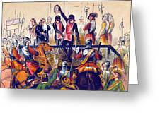 Execution Of Charles I, 1649 Greeting Card
